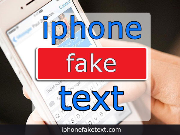 Fake iPhone Text Messages